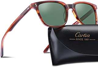 Carfia Chic Retro Polarized Sunglasses for Women Sun's Rays Protection Driving Outdoor Eyewear