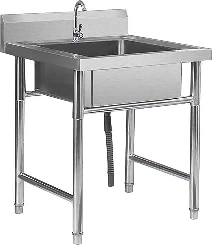 distributeur de batterie avec kit dassemblage Garage Jardin Salle de bain Ferme Ext/érieur Industriel ADGO Ensemble /évier 50 cm, Blanc