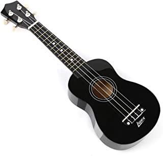 Lujex Best Soprano Ukulele Instrument Great Fun for Adult Beginners and Children LOVE Ukuleles (Black)