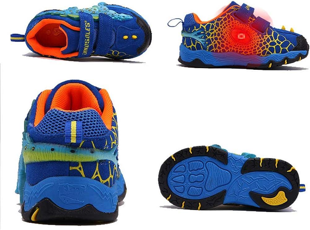 Dollplus Boy Sneakers Light Up Shoes 3D Ankylosaurus LED Shoes Flashing Children Sneaker