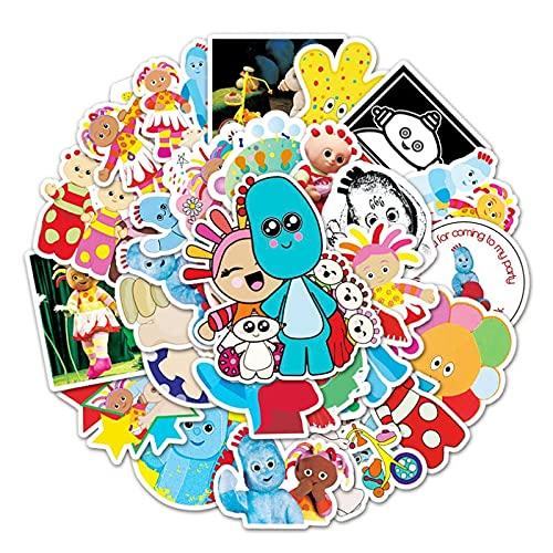 SHIHE Jardín bebé niños Dibujos Animados Graffiti Impermeable monopatín Maleta de Viaje teléfono portátil Equipaje Pegatinas Lindo 50 unids/Set