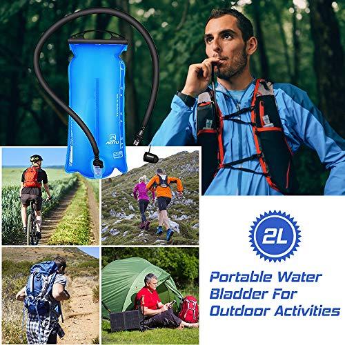 Goliraya Sac à Eau 2 litres Sac à Eau Réservoir d'eau étanche à la vessie Sac d'hydratation pour la Course à Pied Camping Escalade