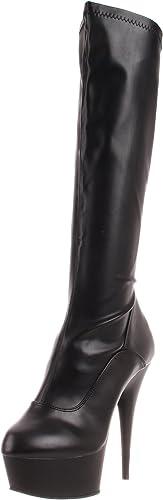 Pleaser DELIGHT-2000 DELIGHT-2000 Blk STR Faux Leather Blk Matte UK 8 (EU 41)  mieux acheter