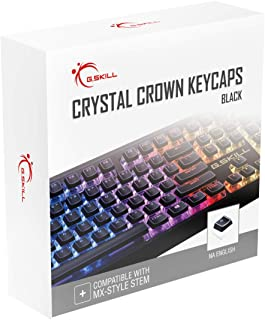 G.SKILL Crystal Crown Keycaps - Keycap Set with Transparent Layer for Mechanical Keyboards, Full 104 Key, Standard ANSI 10...