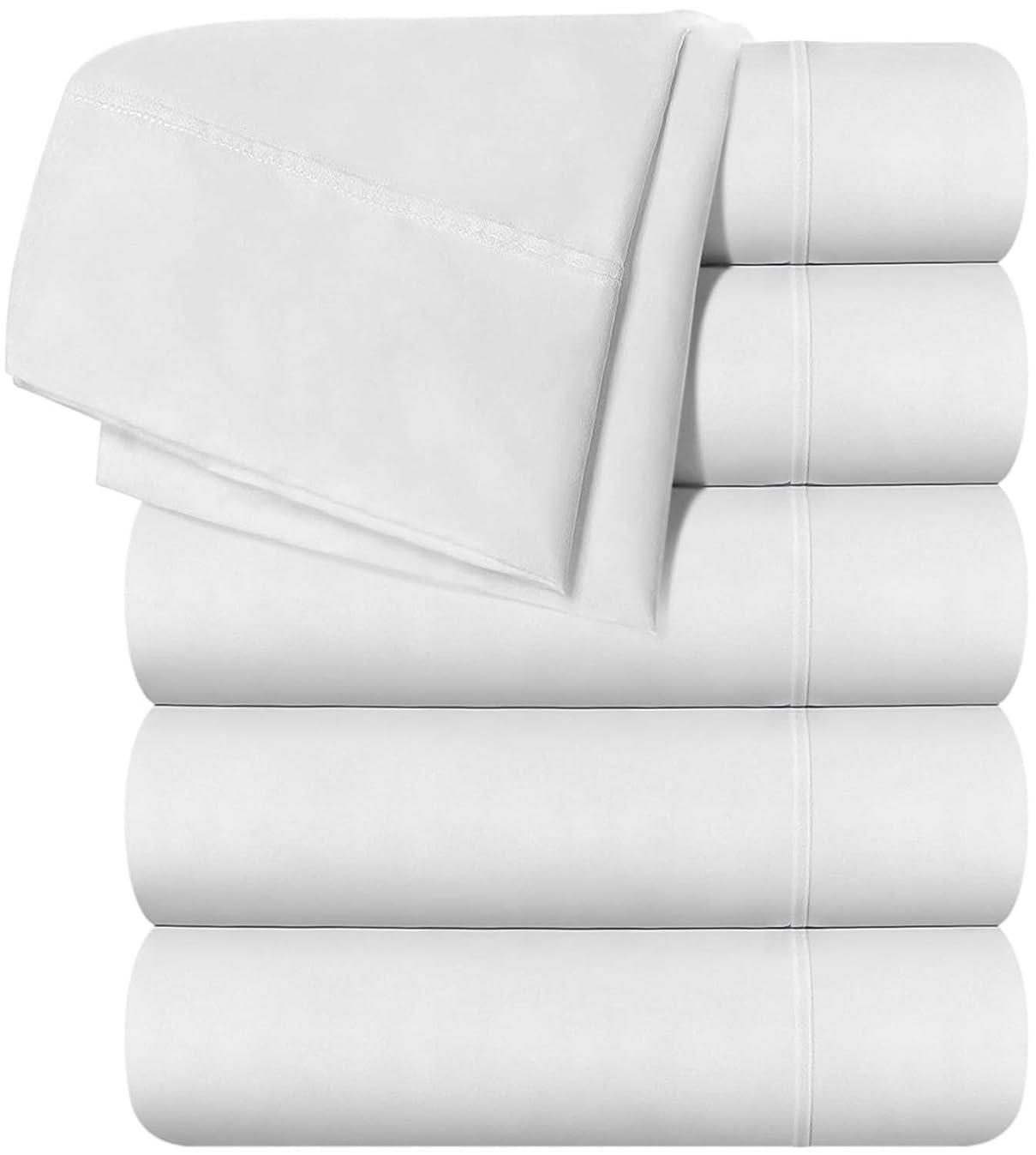 Utopia Bedding Queen Flat Sheet - White (6 Pack)