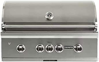 Coyote S-Series 36-Inch 3-Burner Built-in Natural Gas Grill with Rapidsear Infrared Burner, Ceramic Briquette Grids- C2SL36NG