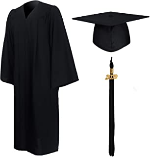 GraduationMall Matte Graduation Gown Cap Tassel Set 2019 for High School and Bachelor