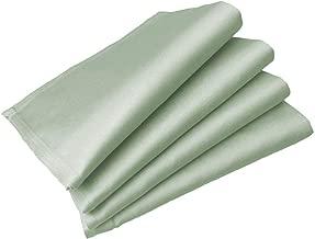 業務用ナフキン4枚セット 50cm×50cm サテン地綿100% 三巻縫製 (サックス)