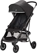 Evenflo Aero Ultra-Lightweight Stroller, Self-Standing Compact Folding Design, 2 Mesh in-Seat Pockets, Large Storage Basket, Flex-Hold Parent Cup-Holder, 50-Pound Capacity, Easy Storage, Lark Black