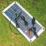 PerGrate Chargeur solaire de la batterie du panneau solaire 12V à 5V 20W pour...