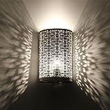 albena shop 71-5315 Kavita oriental lámpara de pared estilo marroquí 30 x 19 cm metal plata