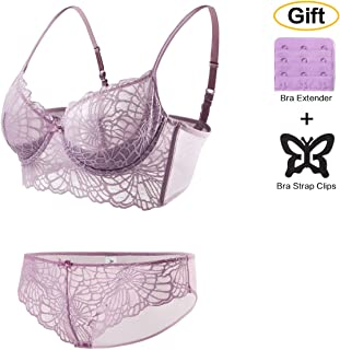 230f4db936911 Lace Padded Bra for Women - Brief Underwear Women Underwire Push Up  Lingerie Set