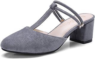 BalaMasa Womens ASL06095 Pu Block Heels