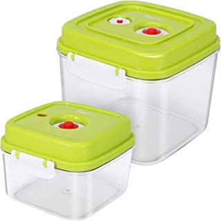 Belifu Vacuum Sealed Fresh Container Set with Vacuum Sealed Airtight Lid, Food Storage Reusable Accessory Starter Kit, Cra...