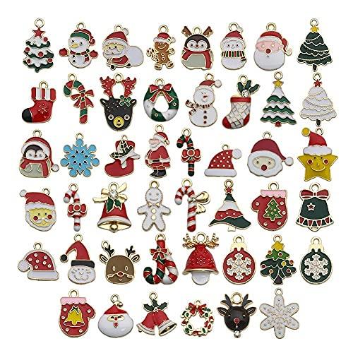 U/B Christmas Charms Pendants, 38/46/50 Pcs Earring Jewelry Making Accessories Pendants Kit, Diy Necklace Bracelet Craft Supplies