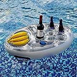 Barra de spa redonda inflable Floating Hot Bañera de hidromasaje Spas Snack y Bandeja Bandeja Mesa de jacuzzi, soporte de bebida flotante Bandeja flotante para piscina Accesorios para piscina Tenedor