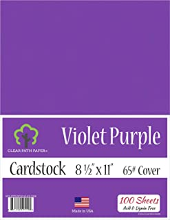 Violet Purple Cardstock - 8.5 x 11 inch - 65Lb Cover - 100 Sheets