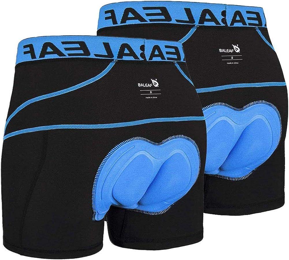 Bike Undershorts Bicycle MTB Underpants BALEAF Mens 3D Padded Cycling Underwear Shorts