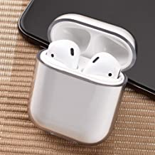 Airpods Case, Earphone Protective Case Cover, Glossy Anti-dust Hard Case Cover Protector for AirPods Charging Case 2 & 1- Transparent