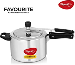 Pigeon by Stovekraft Favourite Alluminum Pressure Cooker with Inner Lid, 5 litres, Silver