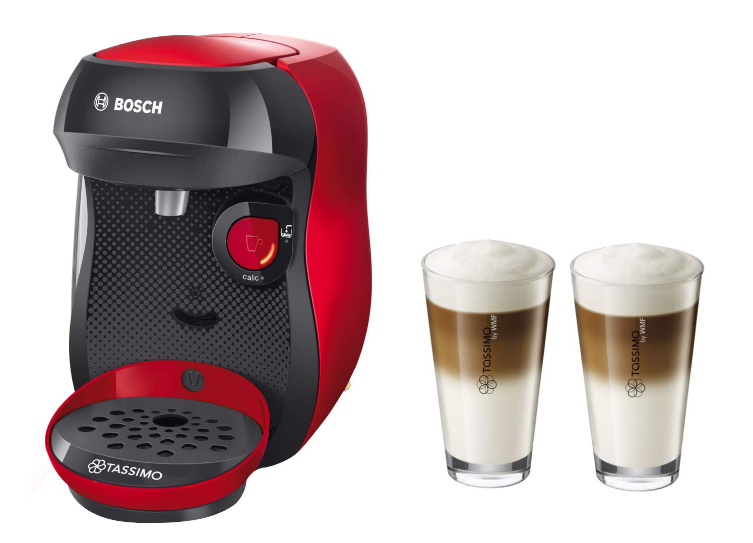 Bosch TASSIMO Happy + 20 EUR Vales * + WMF Latte Macchiato vasos ...