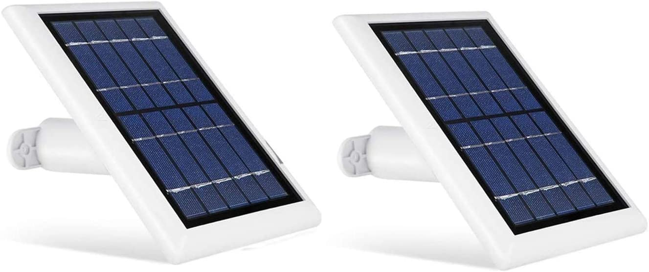 Wasserstein 2W 6V Solar Panel with 13.1ft/4m Cable Compatible with Arlo Ultra/Ultra 2, Arlo Pro 3/Pro 4, & Arlo Floodlight ONLY (2-Pack, White) (NOT Compatible with Arlo Essential Spotlight)