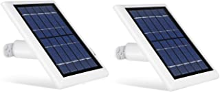 Wasserstein Solar Panel with 13.1ft/4m Cable Compatible with Arlo Ultra, Arlo Pro 3, Arlo Floodlight ONLY - Power Your Arlo Surveillance Camera continuously (2-Pack, White)
