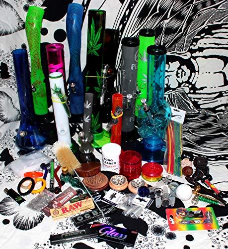 budawi- Headshop Set Junior - Wundertüte, Acrylbong, Chillum, Steckköpfe, Grinder, Pur-Pfeife, Papers, Mystery-Boxen, ActiTube, Schmand-Weg, OCB …