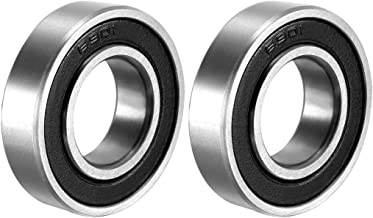 uxcell 6901-2RS Deep Groove Ball Bearing Double Sealed 1180901, 12mm x 24mm x 6mm Carbon Steel Bearings Pack of 2
