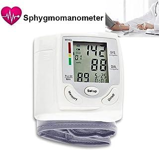 LUCYPAPASHOW Tensiómetro De Muñeca, Tensiómetro Digital De Muñeca Totalmente Automático Presión Arterial Y Detección De Pulso Arrítmico Memoria Certifica FDA CE