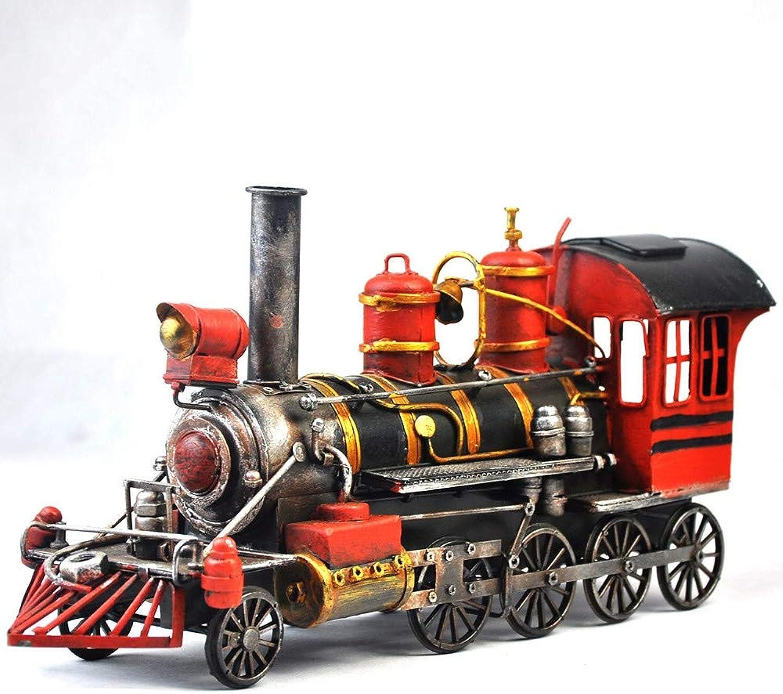 Lokomotivmodelle Handwerk Spielzeug, Tinplate Car Photography Props, Simple Home Perfect Retro Adornment, Das Bestee Geschenk für Jungen