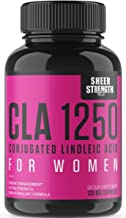 High Potency CLA 1250 for Women (120 Softgels) ~ Proven Natural Weight Loss Supplement | Non-GMO Conjugated Linoleic Acid from Safflower Oil | Sheer Strength Labs