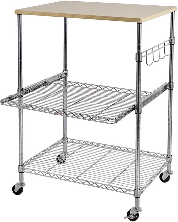 Trust YOUBTQ Kitchen Baker's Rack Microwave Kitc Cart Utility Tier 3 Manufacturer OFFicial shop