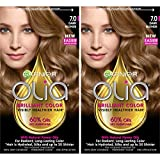 Garnier Olia Ammonia-Free Brilliant Color Oil-Rich Permanent Hair Color, 7.0 Dark Blonde (Pack of 2) Blonde Hair Dye