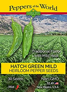 Hatch Green Chile Mild - 30 Seeds - NM-64 - Non-GMO - Open Pollinated - Untreated Seeds