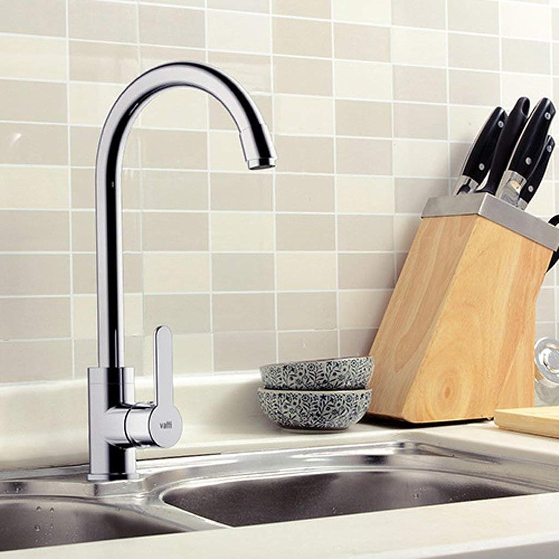 SCJS Wasserhahn Küchenarmaturen Hot and Cold Tap kann gedreht Werden Alle Bronze Wasserhahn