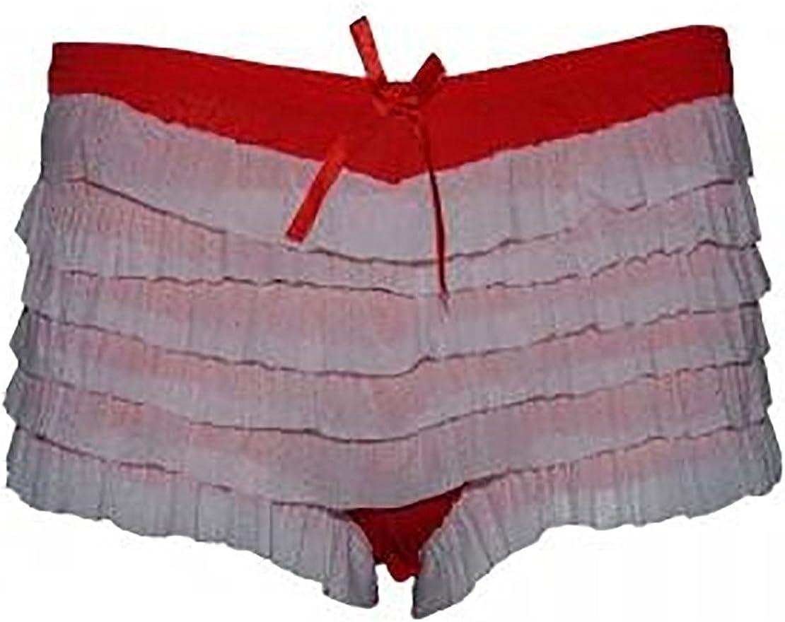 FashioN HuB Ladies Disco Party Fancy Dress Frill Knickers Womens Burlesque Ruffle Knickers