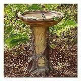 vbnhg Pajarera decorativa para el jardín, polirresina, dispensador para pájaros, bebedero, bebedero para pájaros silvestres hecho a mano, comedero, para jardín o balcón