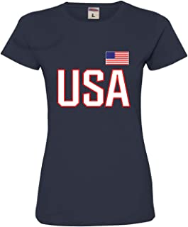 Womens USA National Pride Deluxe Soft T-Shirt