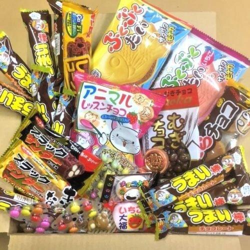 Schokolade spezielles Dagashi Kasten-japanische Imbisse 27pcs Umaibo begrenztes u. Zeitangebot mit AkibaKing Aufkleber