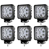 LED Scheinwerfer Arbeitsscheinwerfer Arbeitslicht SUV Offroad IP67 Reflektor Rückfahrscheinwerfer ATV, UTV, Offroad, Traktor, LKW (6 pcs 27W)
