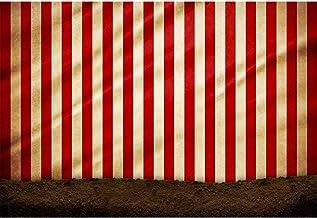 Cassisy 3x2m Vinilo Circo Telon de Fond Al Aire Libre Cortinas De Circo Rojo Rayas de Colores Suelo Fondos para Fotografia Party bebé Infantil Photo Studio Props Photo Booth