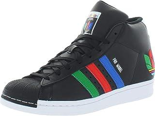 adidas Originals Mens Pro Model Leather Mid Top Sneakers