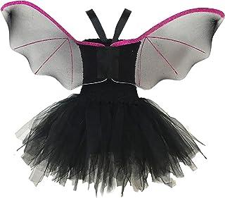 Aislor Déguisement Chauve-Souris Fille Costume Vampire Chauve-Souris Cosplay Halloween Toussaint Carnaval Robe Serre-tête ...