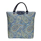Signare Tapestry arazzo Borsa Riutilizzabile Shopper Donna, Shopping Pieghevole Borsa, olding Shopping Bag Donna (Paisley)
