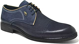 Hakiki Deri Lacivert Nubuk Klasik Erkek Ayakkabı
