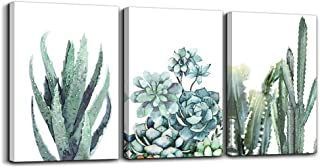 "Best Canvas Wall Art for living room bathroom Wall Decor for bedroom kitchen artwork Canvas Prints green plant flowers painting 12"" x 16"" 3 Pieces Modern framed office Home decorations family picture Review"