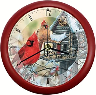 Mark Feldstein Rustic Cardinals 8 inch Sound Clock