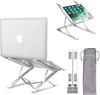 Laptop Stand,Ergonomic Ventilated Laptops Riser With 15 Adjustable Levels, Fully Foldable Portable Laptop Holder Compatibl...