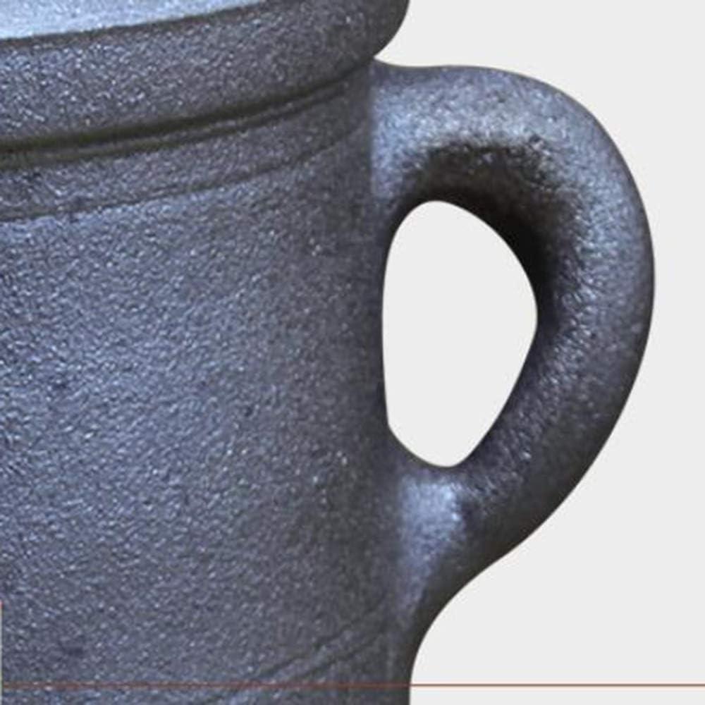 Chinois Clay Pot Antique rétro à la main haute température Casserole Cocotte Pierre Médecine Santé Pot santé for le gaz feu un 3L 1yess (Color : 4l) 4l